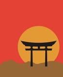 Porta de Torii ilustração royalty free