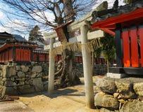 Porta de Torii, santuário de Daishogun, Otsu, Japão Imagens de Stock