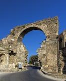 Porta de Vespasian, lado, Turquia Fotografia de Stock