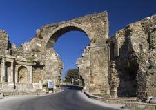 Porta de Vespasian, lado, Turquia Fotos de Stock