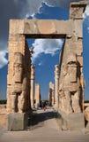 Porta de Xerxes Palace nas ruínas de Persepolis antigo Fotografia de Stock Royalty Free
