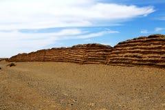 Porta de Yumem e o Grande Muralha em Han Dynasty fotografia de stock