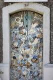 A porta decora com porcelana Fotografia de Stock
