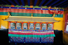 Porta decorada de Jokhang Lhasa Tibet Fotografia de Stock Royalty Free
