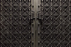 Porta decorata del metallo Fotografia Stock