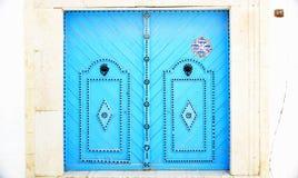 Porta decorata tipica in Sidi Bou Said Fotografia Stock