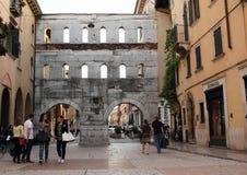 Porta dei Borsari w Verona Obraz Stock
