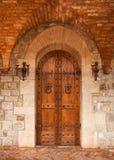 Porta del castello della quercia fotografia stock