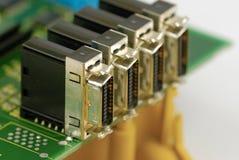 Porta del collegamento di elettronica Immagini Stock Libere da Diritti