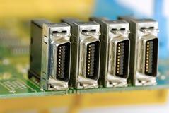 Porta del collegamento di elettronica Immagine Stock