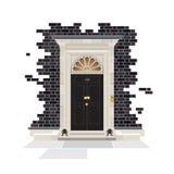 Porta del Downing Street 10 Fotografie Stock