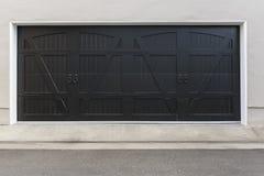 Porta del garage di Brown Fotografia Stock Libera da Diritti