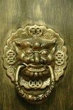 Porta del leone o del drago Fotografie Stock Libere da Diritti