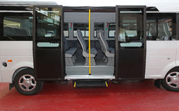 Porta del minibus Fotografie Stock
