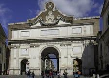 Porta Del Papolo, Roma Imagen de archivo libre de regalías