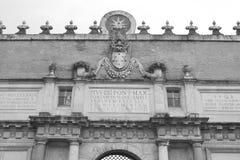 Porta del Popolo city gate in Rome Royalty Free Stock Photo