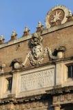 Porta del Popolo i Rome Royaltyfri Bild
