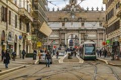 Porta del Popolo, Rome, Italien Fotografering för Bildbyråer