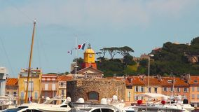 Porta del San-Tropez, Francia video d archivio