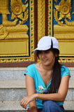 Porta del tempio a Wat Phra That Phanom Din Surin Tailandia immagine stock libera da diritti