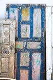 Porta del villaggio Fotografia Stock