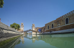Porta dell` Arsenale from inside the canal.. Venice. Italy Royalty Free Stock Photos