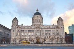 Porta dell'edificio di Liverpool Fotografia Stock Libera da Diritti