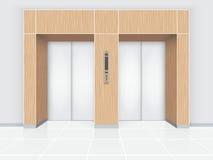 Porta dell'elevatore Immagine Stock