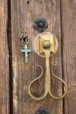 Porta della cappella con la chiave immagine stock libera da diritti