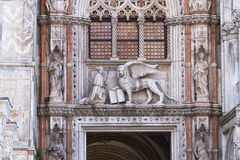 Porta della Carta of the Doges Palace Stock Images