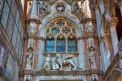 Porta della Carta of the Doges Palace. Venice. Italy Stock Photos