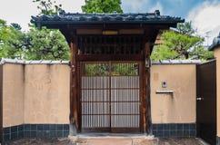 Porta della casa di stile giapponese Immagini Stock