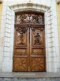 Porta della cattedrale Fotografia Stock