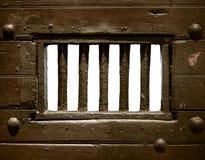 Porta della cella di prigione Immagine Stock