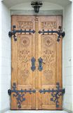 Porta della chiesa della città di Zakopane Immagini Stock Libere da Diritti