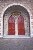 porta della chiesa decorata Immagini Stock Libere da Diritti