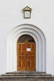 Porta della chiesa ortodossa fotografia stock