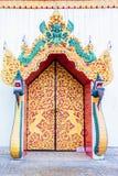 Porta della chiesa in tempio Tailandia Fotografia Stock