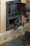 Porta della stufa del fuoco Fotografia Stock Libera da Diritti