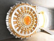 Porta della volta di Bitcoin Fotografia Stock