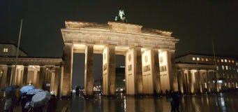 Porta di Brandeburgo Berlin December 2016 Fotografia Stock