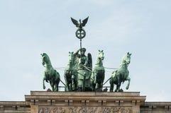 Porta di Brandeburgo a Berlino Fotografia Stock