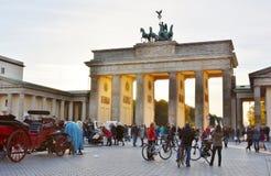 Porta di Brandeburgo, a Berlino, la Germania Immagine Stock Libera da Diritti