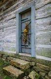 Porta di cabina rustica Fotografia Stock