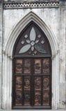 Porta di entrata alla cattedrale del ` s di St Joseph a Hanoi Vietnam fotografia stock