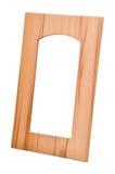 Porta di gabinetto di legno Fotografie Stock Libere da Diritti