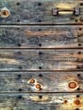 Porta di granaio, dettaglio. Fotografie Stock