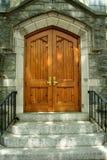 Porta di legno Fotografie Stock Libere da Diritti