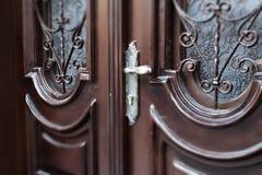 Porta di legno Immagini Stock