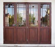 Porta di legno Fotografia Stock Libera da Diritti